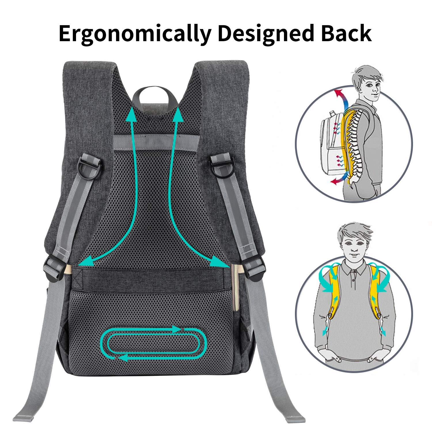 Baby Diaper Bag Backpack, Large Waterproof Nappy Changing Bag for Travel