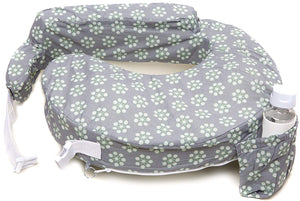 Original Nursing Posture Pillow, Grey & Yellow Fireworks