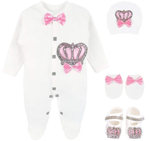 Newborn Jewels Layette 4 Piece Set