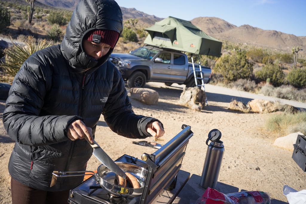 Pro Climber Works the Wall in Joshua Tree and Camps in ...
