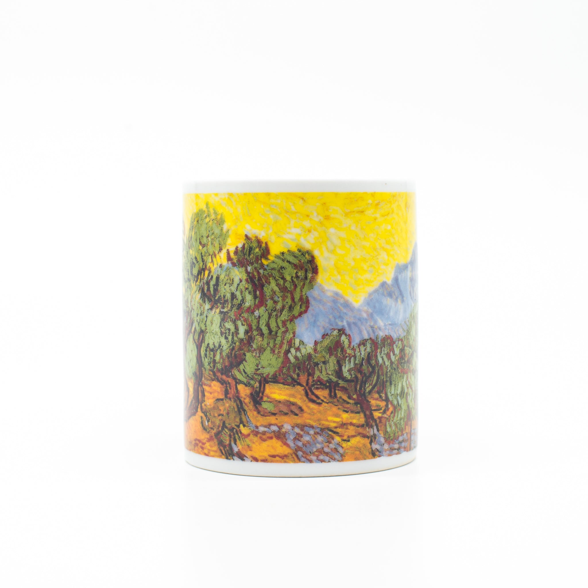 Cană din porțelan - Vincent van Gogh: Olive Trees with Yellow Sky and Sun