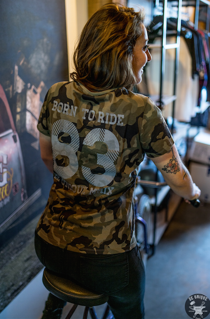 T-shirt Born To Ride Bio, Camouflage - BEUNIQUEMMIX