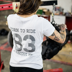 T-shirt Born To Ride Bio, Blanc - BEUNIQUEMMIX