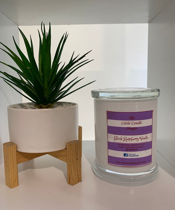 Candle Jar - White Monaco