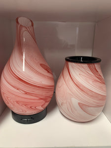 Ultrasonic Diffuser and Electric melt burner combo - Pink Swirl.