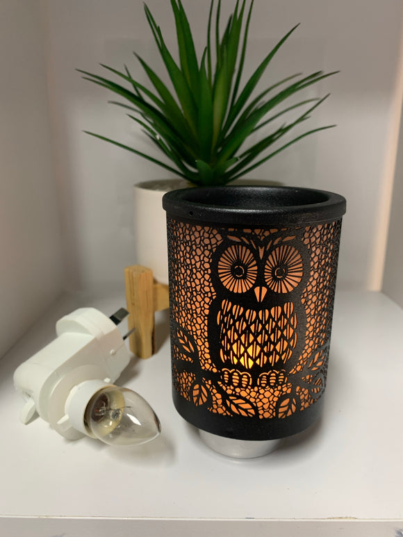 Mini Plug In Melt Burner - Black Owl