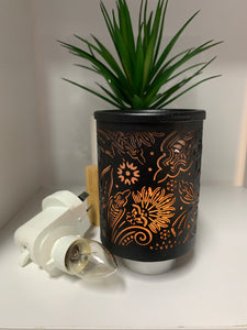 Mini Plug In Melt Burner - Black Floral