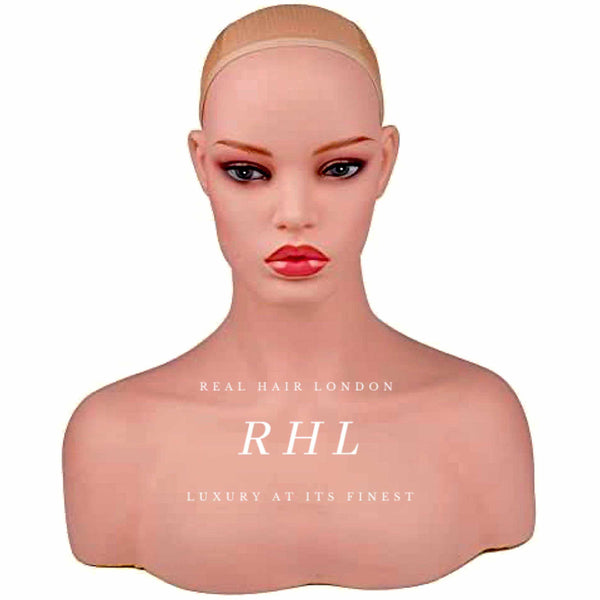 The luxury world of Real Hair London dolls. Professional female mannequin head and bust