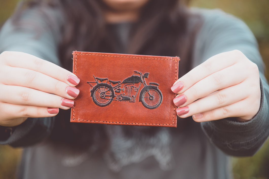 Mens Leather Motorcycle Wallet