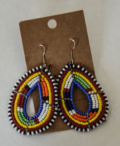 Kenyan Beaded Earrings