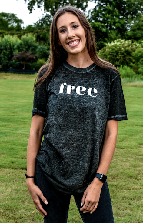 Until All Are Free Acid Washed Tee