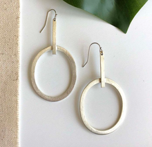 Load image into Gallery viewer, Anka Silver Hoops