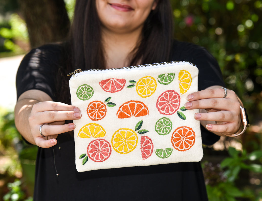 Citrus Zipper Pouch