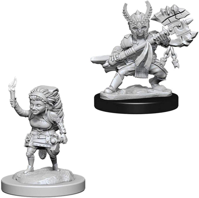D&D Nolzur's Marvelous Unpainted Miniatures: Female Halfling Fighter - 2018 Version