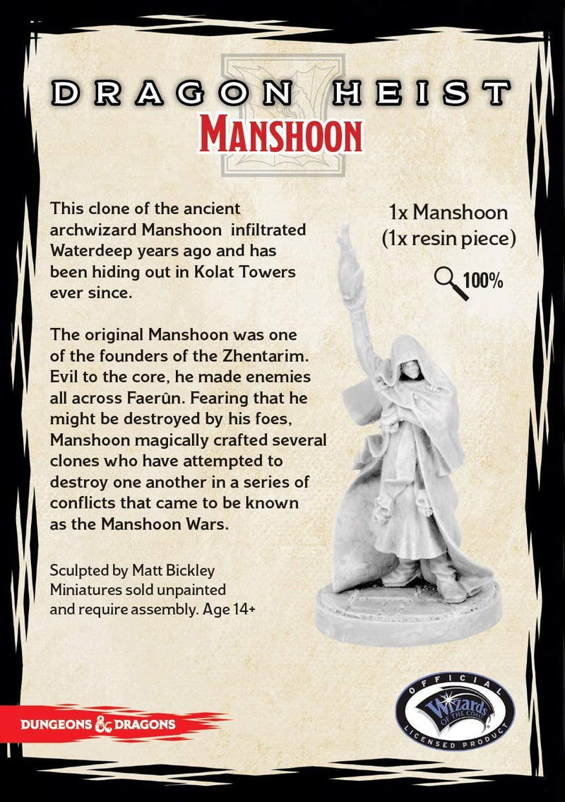 D&D Collector's Series Miniatures: Waterdeep Dragon Heist - Manshoon