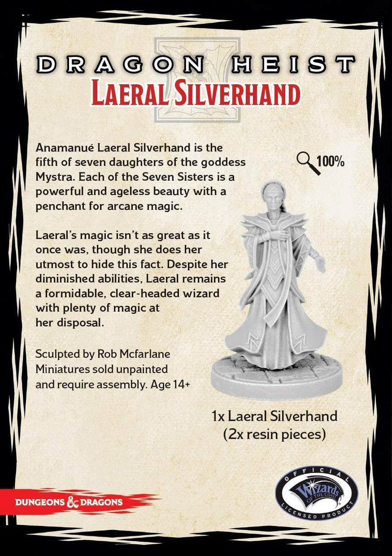 D&D Collector's Series Miniatures: Waterdeep Dragon Heist - Laeral Silverhand