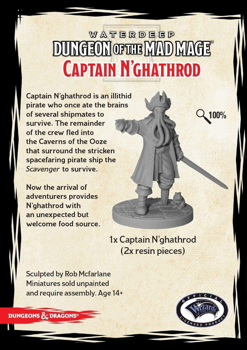 D&D Collector's Series Miniatures: Dungeon of the Mad Mage Captain - Nghathrod