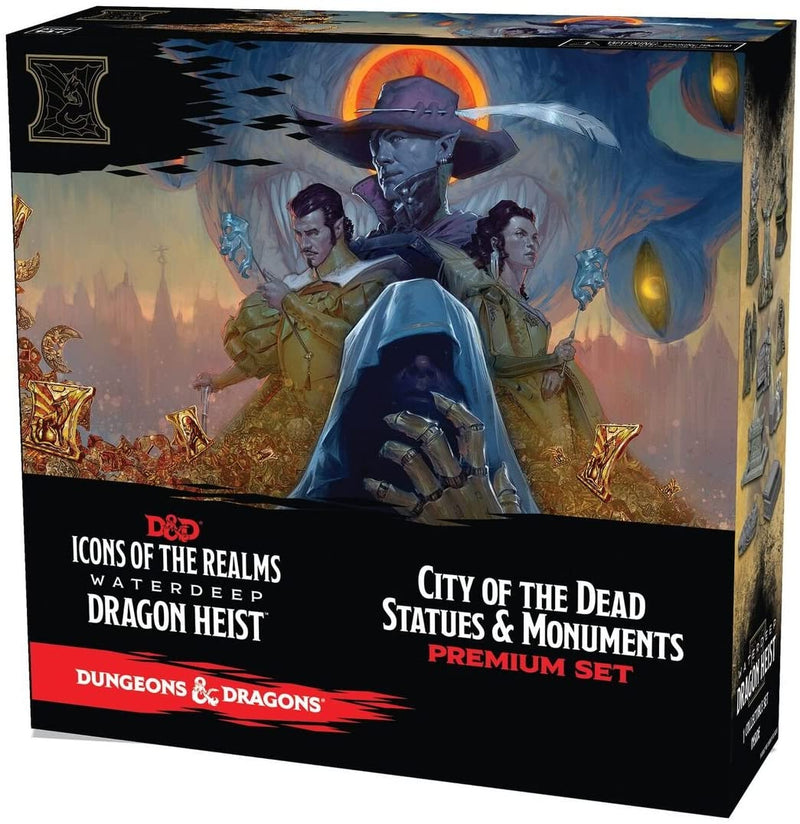 D&D Icons of the Realms: Waterdeep Dragon Heist Set 9 - City of the Dead Statues & Monuments