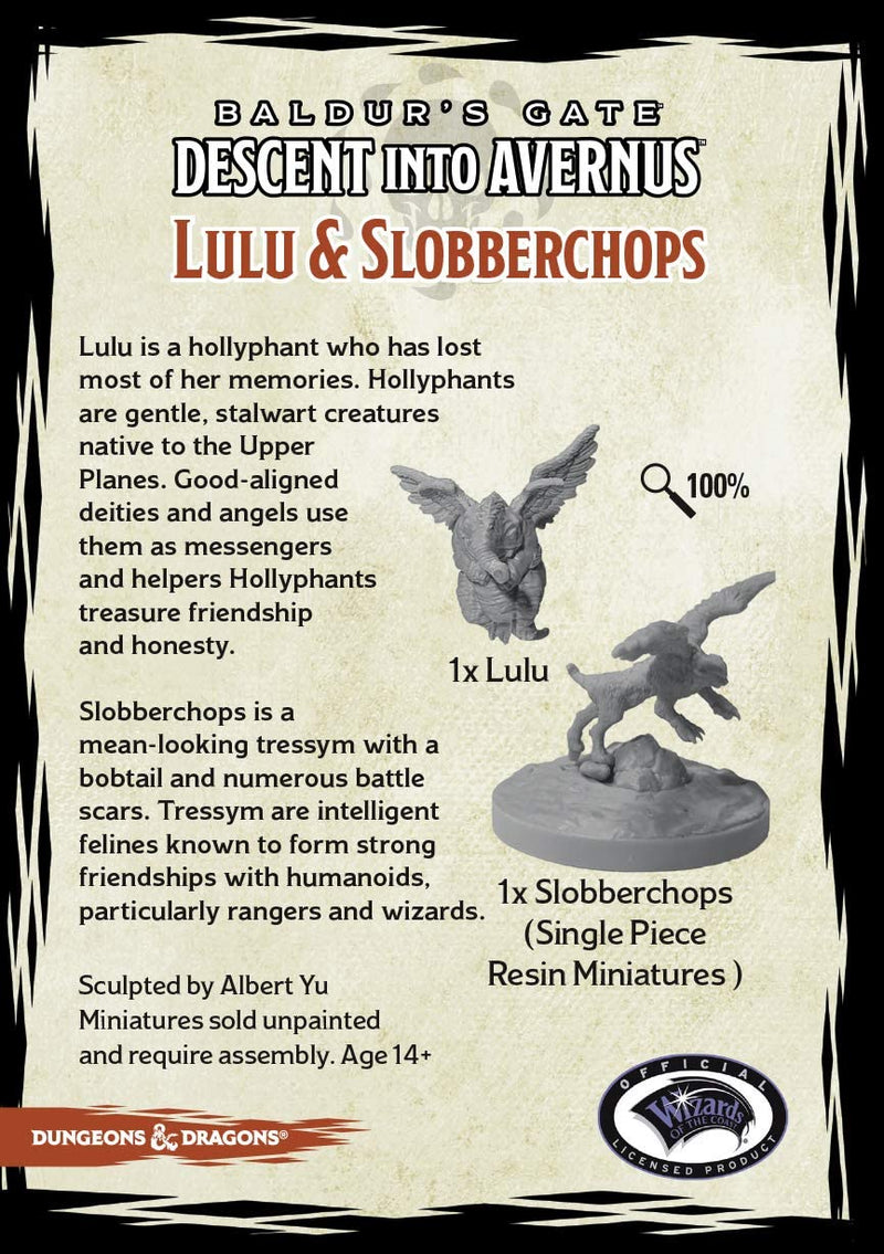 D&D Collector's Series Miniatures: Baldur's Gate Descent Into Avernus - Lulu & Slobberchops