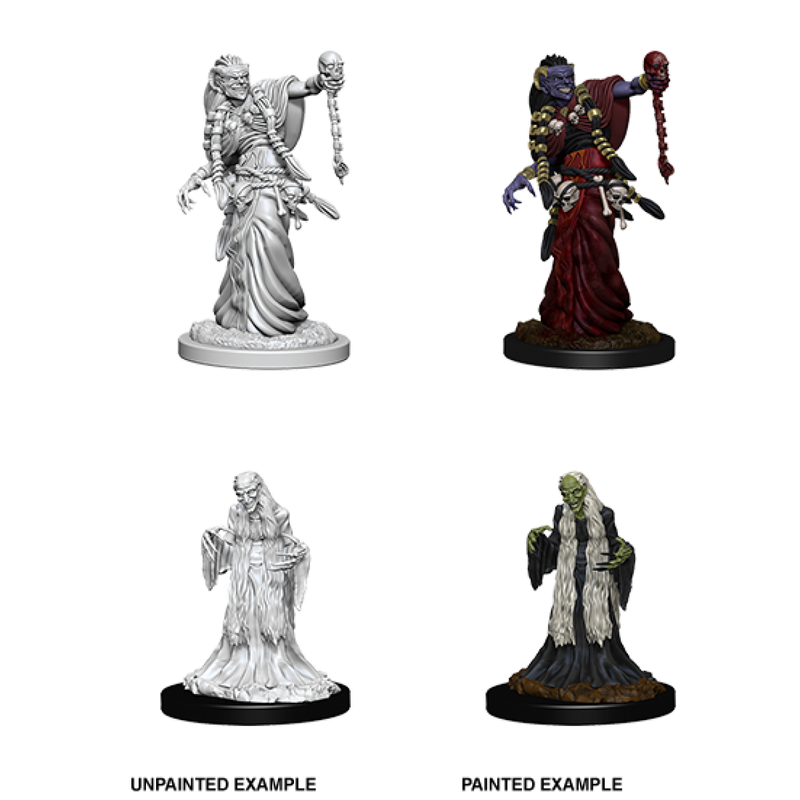D&D Nolzur's Marvelous Unpainted Miniatures: Green Hag & Night Hag
