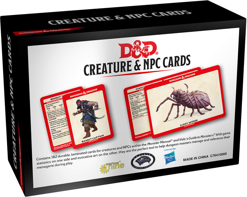 D&D Creature & NPC Cards