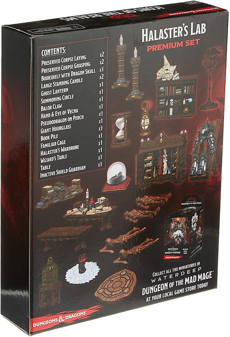 D&D Icons of the Realms: Waterdeep Dungeon of the Mad Mage Halaster's Lab Premium Set