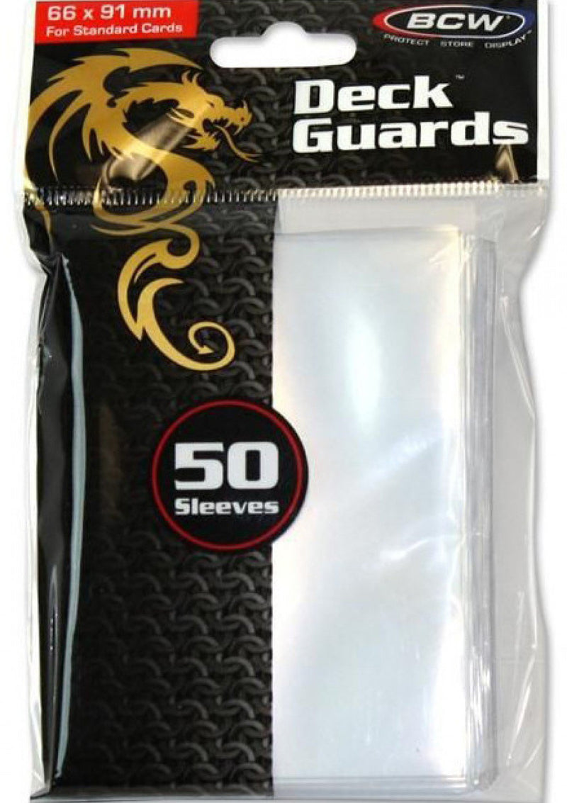 "Card Sleeves: BCW - 50 ""Standard"" Clear (66mm x 91mm)"