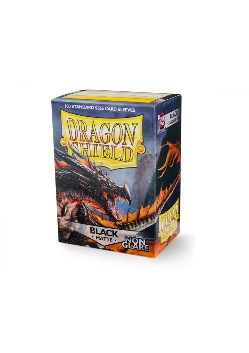 "Card Sleeves: Dragon Shield - 100 Box Non Glare ""Standard"" Black (63mm x 88mm)"