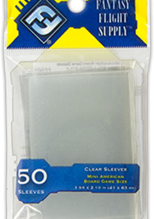 "Card Sleeves: FFG - 50 Yellow ""Mini American"" (41mm x 63mm)"