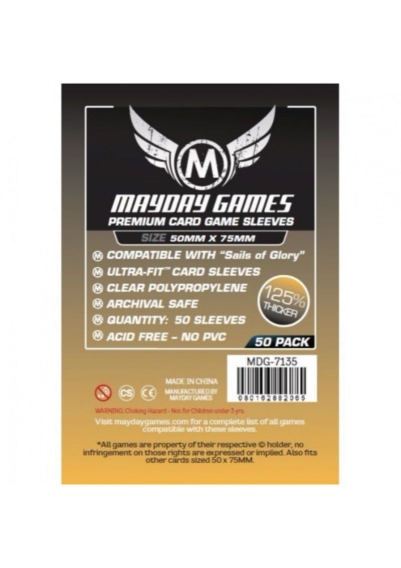 "Card Sleeves: Mayday - 50 Premium Light Orange ""Sails of Glory"" (50mm x 75mm)"