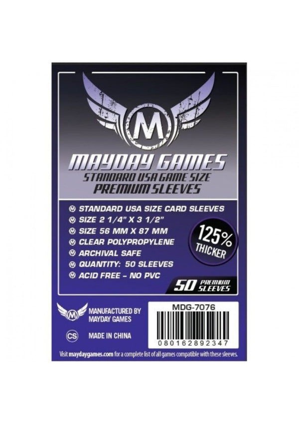"Card Sleeves: Mayday - 50 Premium Purple ""Standard USA"" (56mm x 87mm)"