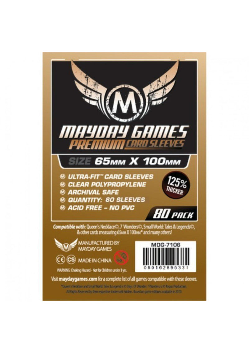 "Card Sleeves: Mayday - 80 Premium Copper ""7 Wonders"" Magnum Ultra Fit (65mm x 100mm)"