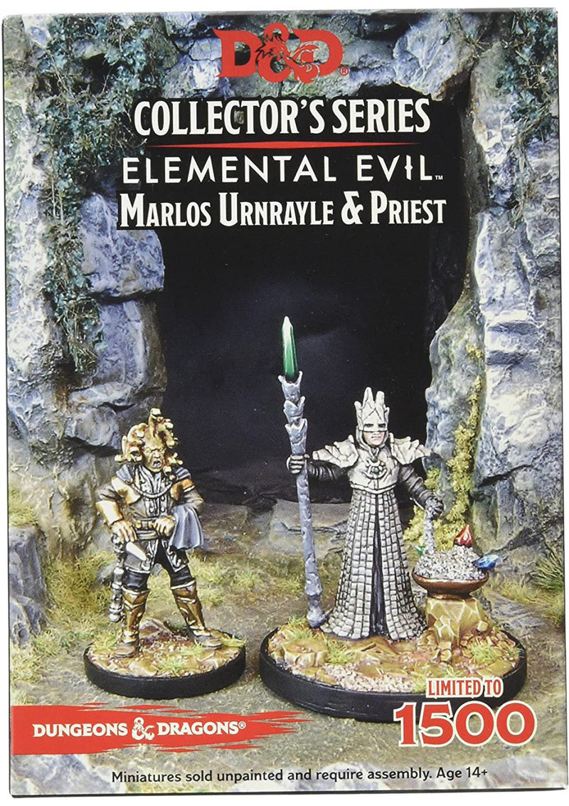 D&D Collector's Series Miniatures: Elemental Evil - Marlos Urnrayle & Earth Priest