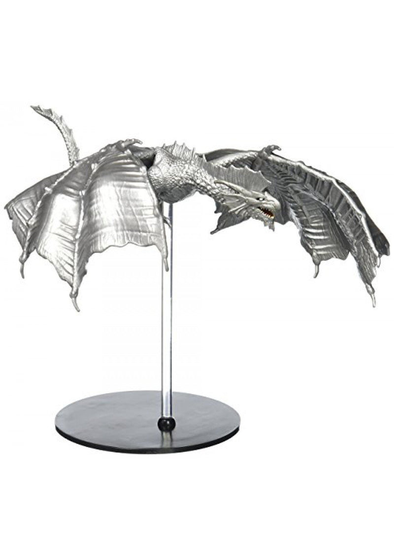 D&D Icons of the Realms: Elemental Evil - 4 Bricks & Ancient Silver Dragon Premium Figure