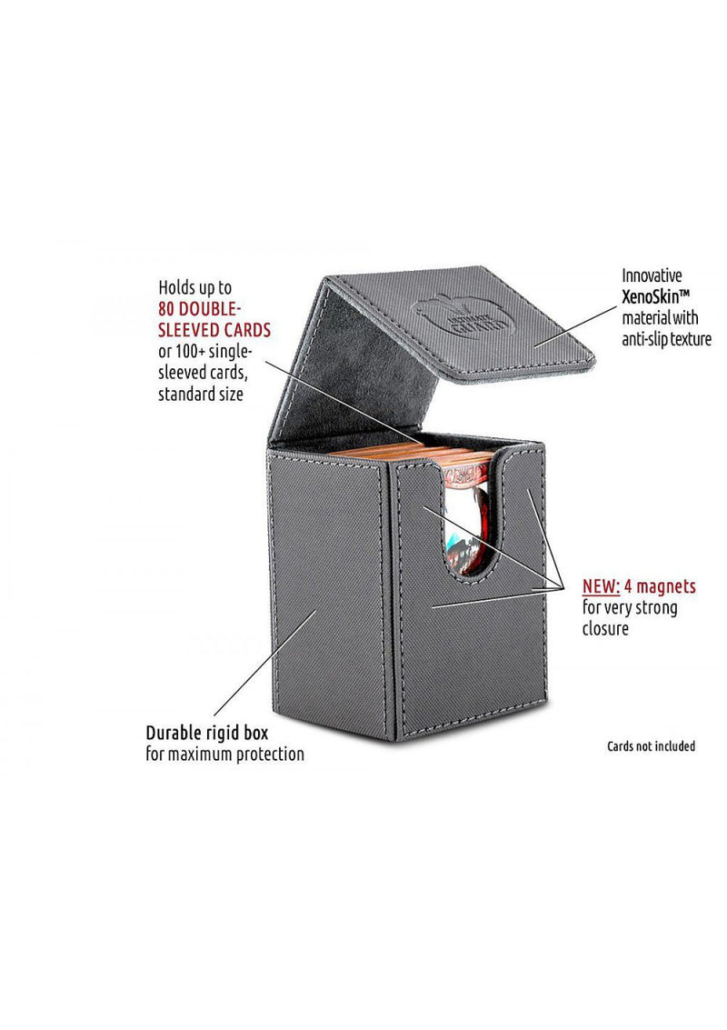 Deck Box: Ultimate Guard - Flip Deck Case Xenoskin Standard 80+ Grey