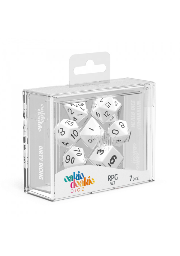 Dice: Oakie Doakie Dice RPG Set Solid - White (7)