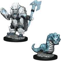 D&D Wizkids Wardlings Painted Miniatures: Ice Orc and Ice Worm