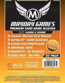 "Card Sleeves: Mayday - 50 Premium Bright Orange ""Yucatan Narrow"" (54mm x 80mm)"