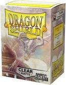 "Card Sleeves: Dragon Shield - 100 Box Non Glare ""Standard"" Clear (63mm x 88mm)"