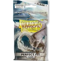 Card Sleeves: Dragon Shield - 100 Perfect Fit Clear (63mm x 88mm)
