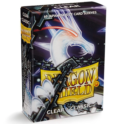"Card Sleeves: Dragon Shield - 60 Box Glossy ""Japanese"" Clear (59mm x 86mm)"