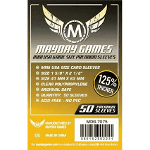 "Card Sleeves: Mayday - 50 Premium Yellow ""Mini USA"" (41mm x 63mm)"