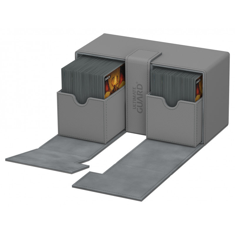 Deck Box: Ultimate Guard - Twin Flip 'n' Tray Deck Case Xenoskin Standard 200+ Grey