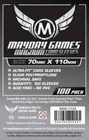 "Card Sleeves: Mayday - 100 Premium Grey ""Lost Cities"" Magnum Ultra Fit (70mm x 110mm)"