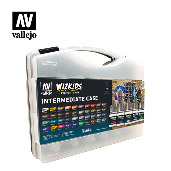 WizKids Premium Paints: Intermediate Case by Vallejo