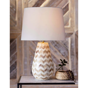 Regina Andrew Cassia Chevron Table Lamp