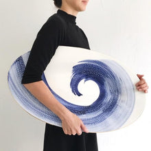 Load image into Gallery viewer, Jill Rosenwald Large Platter in Gloucester Swoosh
