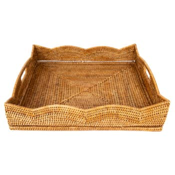 Artifacts Trading Company Scallop Square Tray