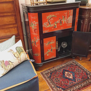 Vintage Asian lacquered Bar Cabinet