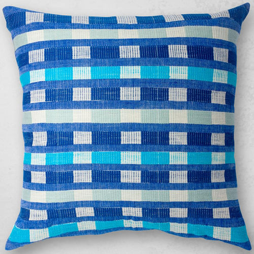 Bole Road Mursi Pillow in Azure
